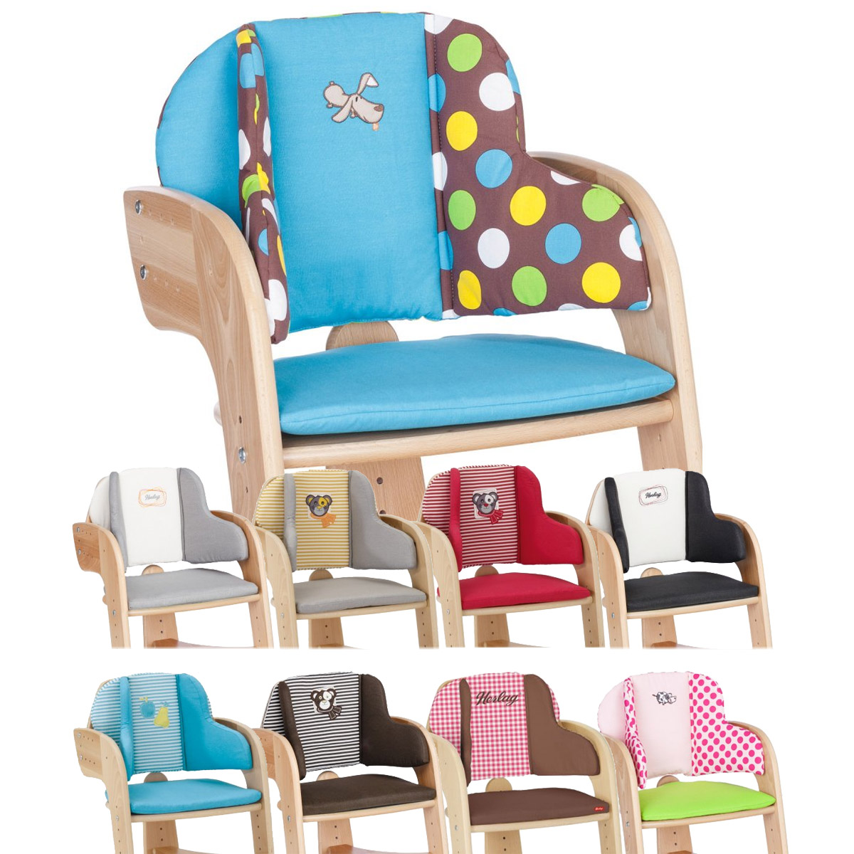 herlag sitzpolster f r hochstuhl tipp topp comfort iv ebay. Black Bedroom Furniture Sets. Home Design Ideas