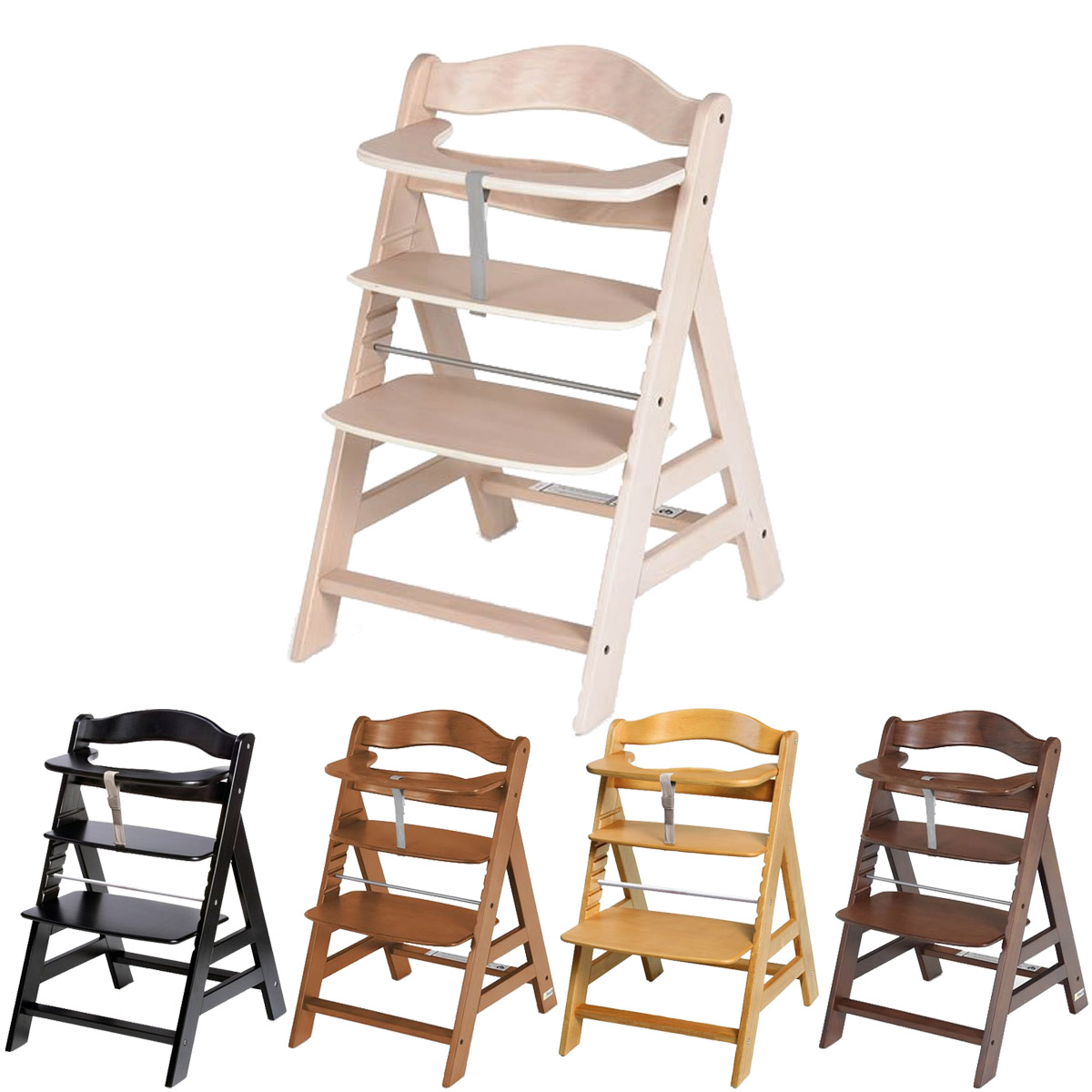 hauck alpha treppen hochstuhl farbe w hlbar neu ebay. Black Bedroom Furniture Sets. Home Design Ideas