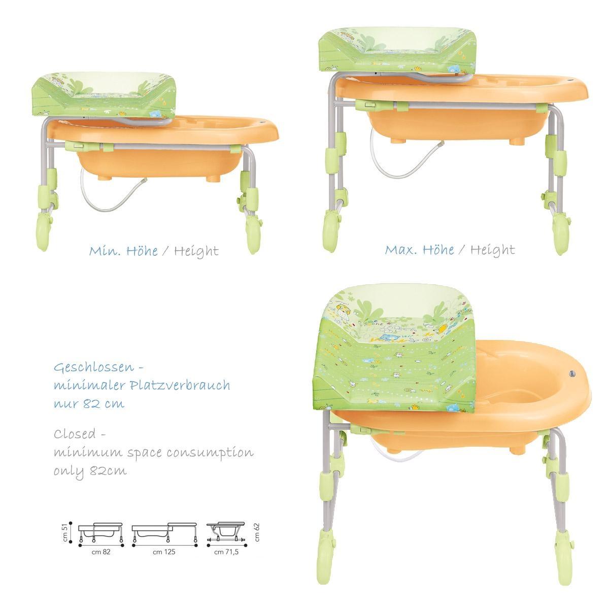 brevi bagnotime eau du bain langer combinaison table langer babybadewanne choix de couleur. Black Bedroom Furniture Sets. Home Design Ideas