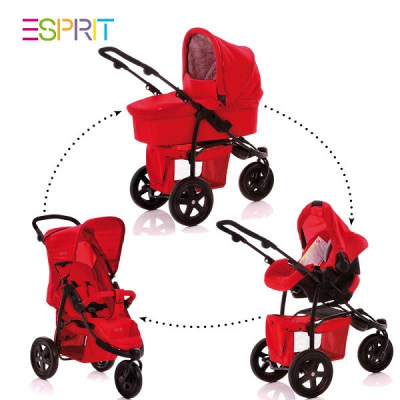 esprit buggy runner trio set mit babywanne und babyschale. Black Bedroom Furniture Sets. Home Design Ideas