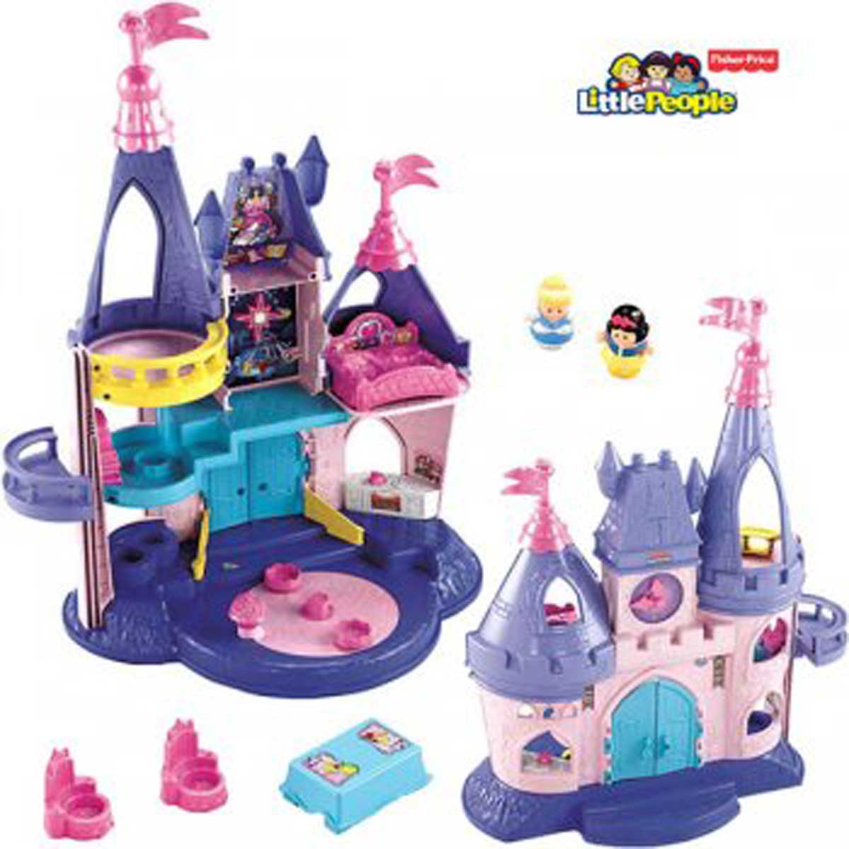 fisher price little people disney princess prinzessinnen schloss x8488 7405 ebay. Black Bedroom Furniture Sets. Home Design Ideas
