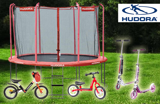 Innovative Produkte, wie Laufrder, Roller und Trampoline in bester Qualitt von Houdora