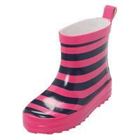 Playshoes Gummistiefel Ringel Marine/Pink