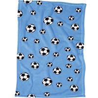 Playshoes Fleece-Decke 75x100cm Fußball