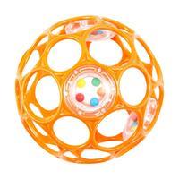 Oball Rassel 10cm Ball Greifling für Babies und Kleinkinder Orange