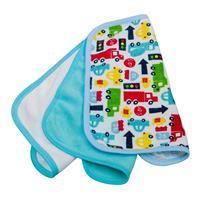 rotho Babydesign Waschtücher im 3er-Pack Modern Blue