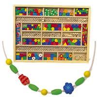 Legler Fädelbox, auffädeln von Perlen, Buchstaben, Formen, etc,