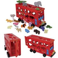 Legler Small foot design, ABC-Bus mit bunten Tierfiguren
