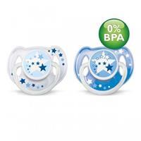 Philips Avent SCF176/22 - 2 Stück Beruhigungssauger Schnuller für die Nacht 6-18 Monate, BPA-frei