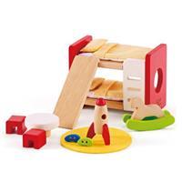 Hape Kinderzimmer aus Holz fürs Puppenhaus, 13-teilig