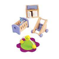 Hape Babyzimmer aus Holz für Puppenhaus