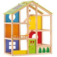 Hape Vier-Jahreszeiten-Haus Puppenhaus Spielhaus