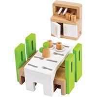 Hape Esszimmer aus Holz für Puppenhaus