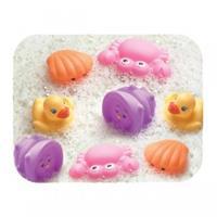 Playgro Badespielset Spritztiere 8-teilig Mädchen pink