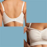 Carriwell 3200 3201 3202 3203 Seamless Organic Cotton Nursing Bra Weiß 02 Detailansicht 01