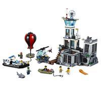 Lego City Polizeiquartier auf der Gefängnisinsel Detaillierte Ansicht 02