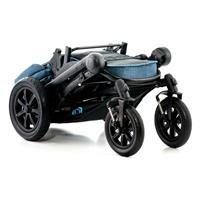 Moon Kombikinderwagen TREGG | blue melange | 63640200 990 kompakt klappbar