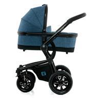Moon Kombikinderwagen TREGG | city blue melange | 63640200 990 mit Babywanne