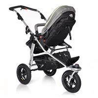 TFK Joggster Adventure Kinderwagen mit MultiX 2in1 Tragewanne ab Geburt 2017 Quiet Shade Rueckwaerts
