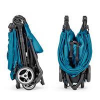 baby jogger city mini zip travel system buggy mit pebble teal watercolor blue 3D faltmechanik Detail
