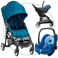 baby jogger city mini zip travel system buggy mit pebble 2016 teal watercolor blue Hauptbild