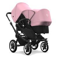bugaboo Geschwisterwagen Donkey2 Gestell Schwarz Design Schwarz / Soft Pink