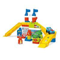 Mega Bloks FVJ02 Spiel-Set Rennauto Werkstatt