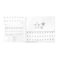 Minou Bio Bettwäsche 100x135 Grau Sterne