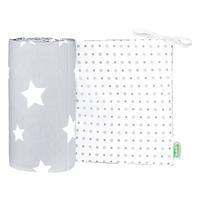 """Odenwälder 4065 Jersey-Nestchen """"White Stars"""" white stars light silver"""