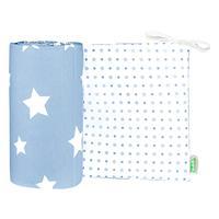 "Odenwälder 4065 Jersey-Nestchen ""White Stars"" white stars sky blue"