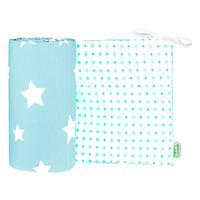 Odenwaelder 4065 Jersey Nestchen White Stars 4065 1098 Frozen Minze
