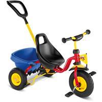 Puky CAT 1 L Dreirad Carry-Touring-Kipper-Luft rot (Gelbe Schiebestange)