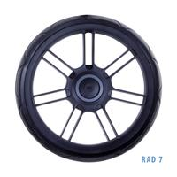 Teutonia Rad 7R Gummirad mit Air Ride Technologie