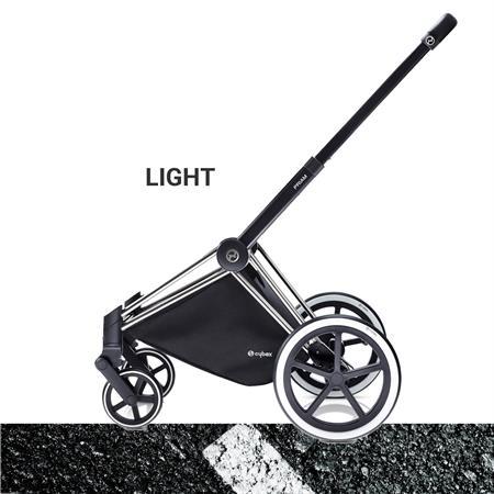 Cybex PRIAM Chrome Kinderwagen Gestell 2017 Seitenansicht LIGHT Raeder