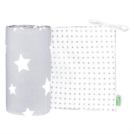 Odenwaelder 4065 Jersey Nestchen White Stars 4065 1095 Light Silver