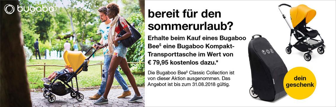 Bugaboo bee5 City-Kinderwagen kaufen und eine bugaboo Kompakt-Transporttasche im Wert von 79,95 EUR als Geschenk dazu erhalten!
