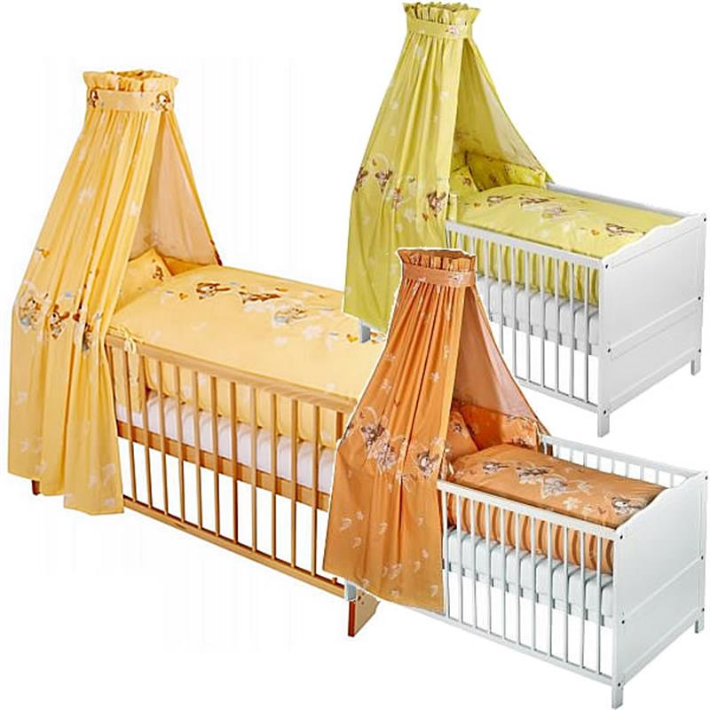 z llner baby bett set herzb r mit bettw sche himmel nestchen sale ebay. Black Bedroom Furniture Sets. Home Design Ideas
