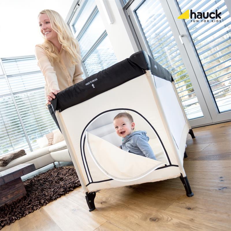 hauck dream 39 n play plus reisebett 60x120 cm beige grey ebay. Black Bedroom Furniture Sets. Home Design Ideas